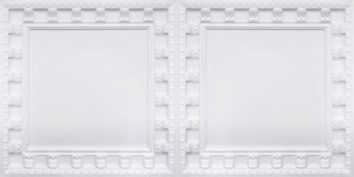 8236 White Pearl Faux Tin Ceiling Tile
