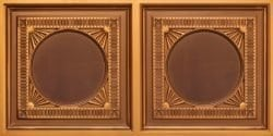 8266 Faux Tin Ceiling Tile - Antique Gold