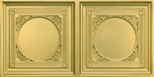 8266 Faux Tin Ceiling Tile - Brass