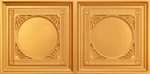 8266 Faux Tin Ceiling Tile - Gold