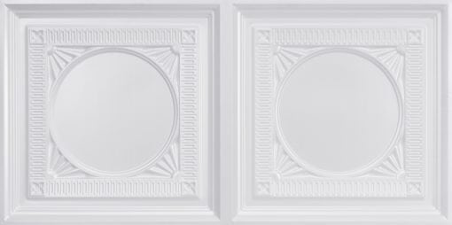 8266 Faux Tin Ceiling Tile - White Pearl
