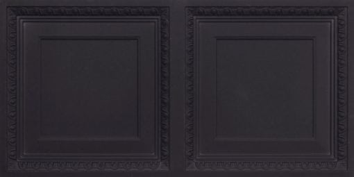 8267 Faux Tin Ceiling Tile - Black Matte