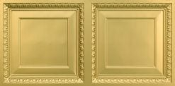 8267 Faux Tin Ceiling Tile - Brass