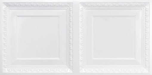 8267 Faux Tin Ceiling Tile - White Pearl