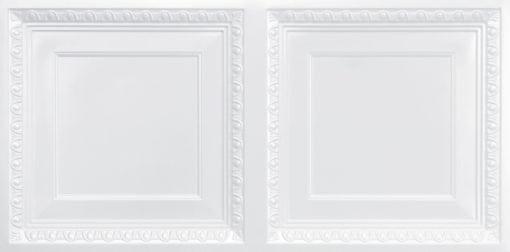 8267 Faux Tin Ceiling Tile - White Pearl