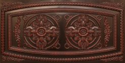 8272 Faux Tin Ceiling Tile - Antique Rosewood