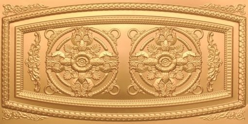 8272 Faux Tin Ceiling Tile - Gold
