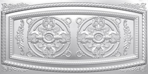 8272 Faux Tin Ceiling Tile - Silver