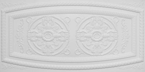 8272 Faux Tin Ceiling Tile - White Matte