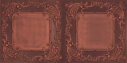 8269 Faux Tin Ceiling Tile - Antique Copper