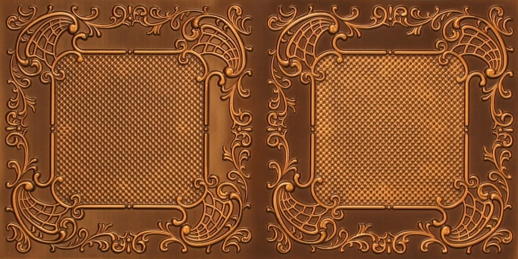 8269 Faux Tin Ceiling Tile - Antique Gold