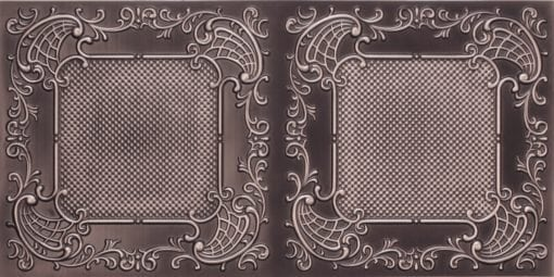 8269 Faux Tin Ceiling Tile - Antique Silver