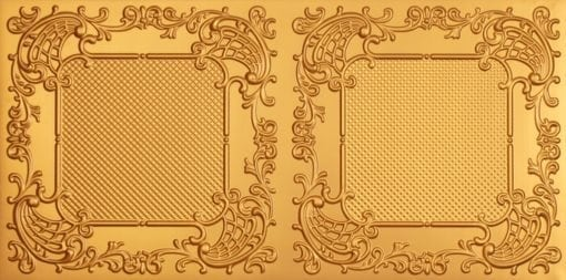 8269 Faux Tin Ceiling Tile - Gold