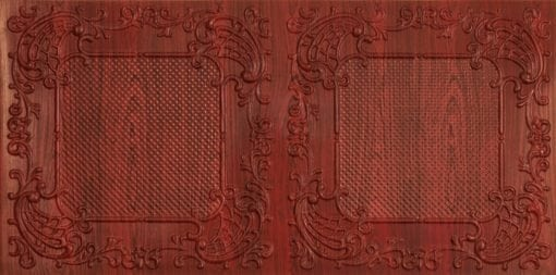 8269 Faux Tin Ceiling Tile - Rosewood