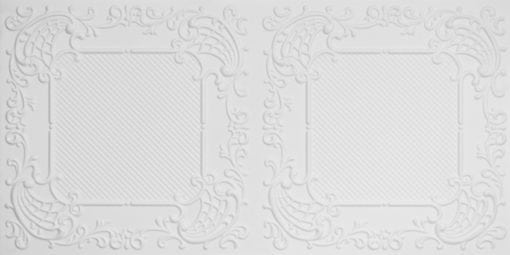 8269 Faux Tin Ceiling Tile - White Matte
