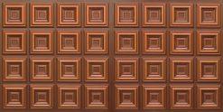 8270 Faux Tin Ceiling Tile - Antique Copper