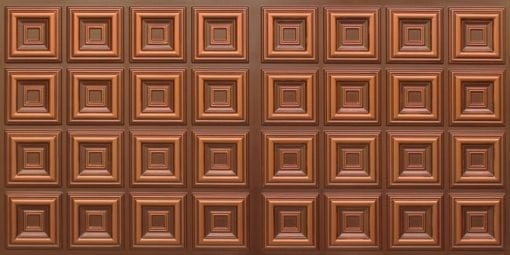 8270 Faux Tin Ceiling Tile - Antique Copper