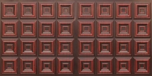 8270 Faux Tin Ceiling Tile - Antique Rosewood