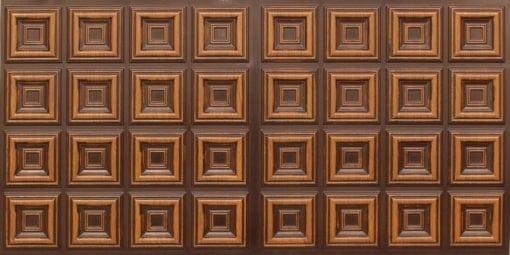 8270 Faux Tin Ceiling Tile - Antique Teakwood