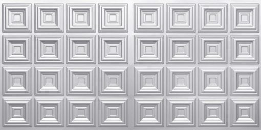 8270 Faux Tin Ceiling Tile - Silver