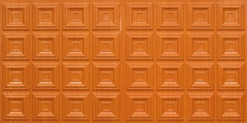 8270 Faux Tin Ceiling Tile - Teakwood