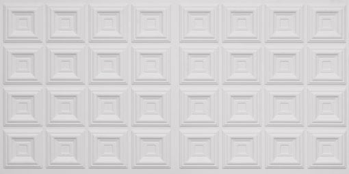 8270 Faux Tin Ceiling Tile - White Matte