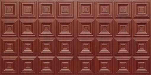 8270 Faux Tin Ceiling Tile - Woodland Brown