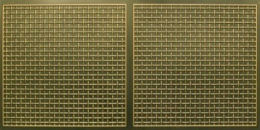 8271 Faux Tin Ceiling Tile - Antique Brass