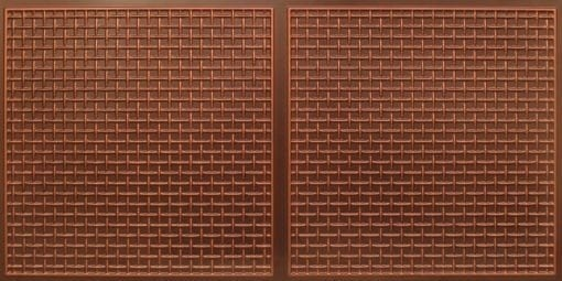 8271 Faux Tin Ceiling Tile - Antique Copper