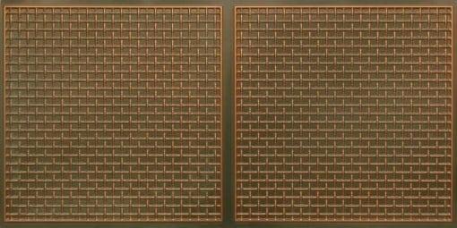 8271 Faux Tin Ceiling Tile - Patina Copper