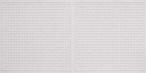 8271 Faux Tin Ceiling Tile - White Matte