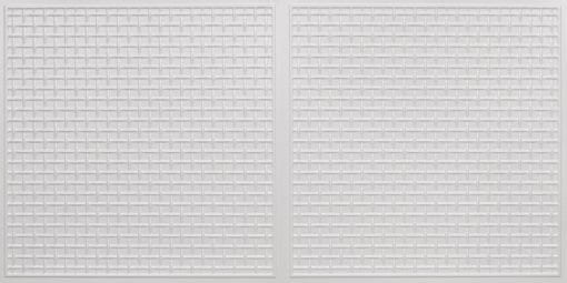 8271 Faux Tin Ceiling Tile - White Pearl