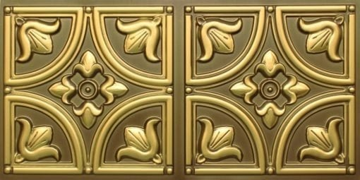 8273 Faux Tin Ceiling Tile - Antique Brass