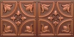 8273 Faux Tin Ceiling Tile - Antique Copper