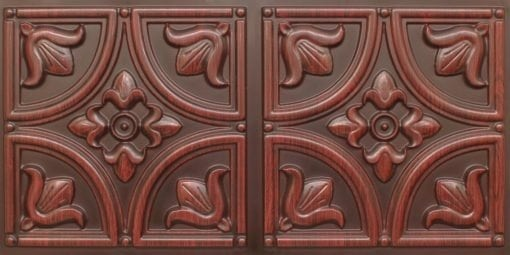 8273 Faux Tin Ceiling Tile - Antique Rosewood