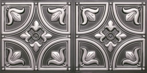 8273 Faux Tin Ceiling Tile - Antique Silver
