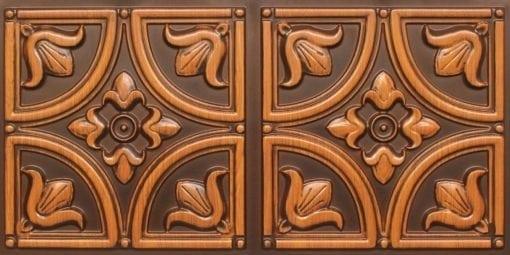 8273 Faux Tin Ceiling Tile - Antique Teakwood
