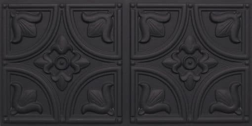 8273 Faux Tin Ceiling Tile - Black Matte