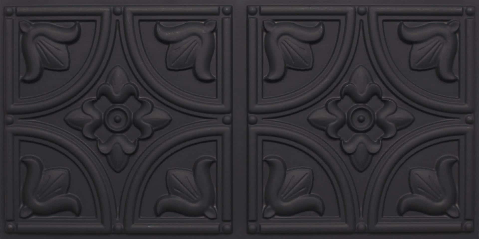 8273 Faux Tin Ceiling Tile Black Matte