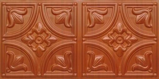 8273 Faux Tin Ceiling Tile - Dark Cherry