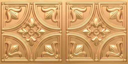 8273 Faux Tin Ceiling Tile - Gold