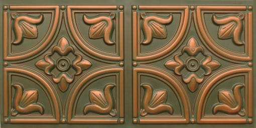 8273 Faux Tin Ceiling Tile - Patina Copper