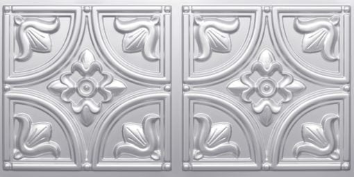 8273 Faux Tin Ceiling Tile - Silver
