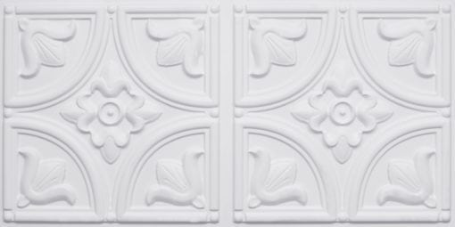 8273 Faux Tin Ceiling Tile - White Matte