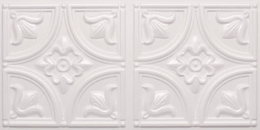 8273 Faux Tin Ceiling Tile - White Pearl
