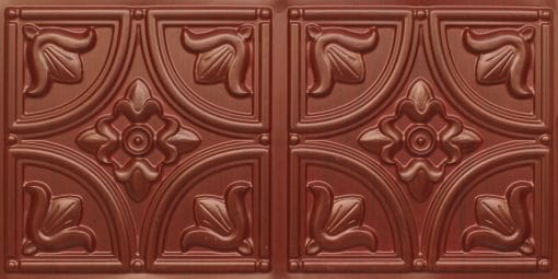 8273 Faux Tin Ceiling Tile - Woodland Brown