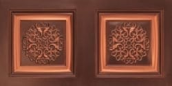 8268 Faux Tin Ceiling Tile - Antique Copper