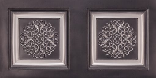 8268 Faux Tin Ceiling Tile - Antique Silver