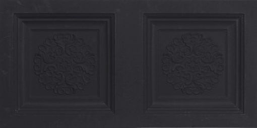8268 Faux Tin Ceiling Tile - Black Matte
