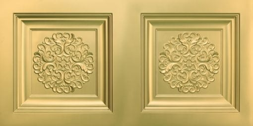 8268 Faux Tin Ceiling Tile - Brass